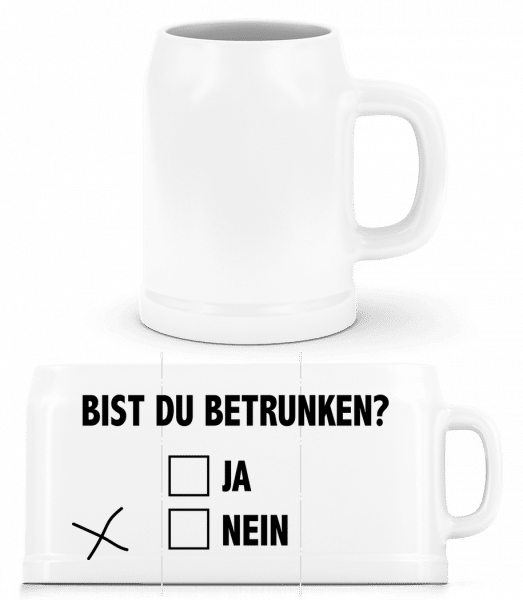 Österreich Fahne - Bierkrug - Weiß - Vorn