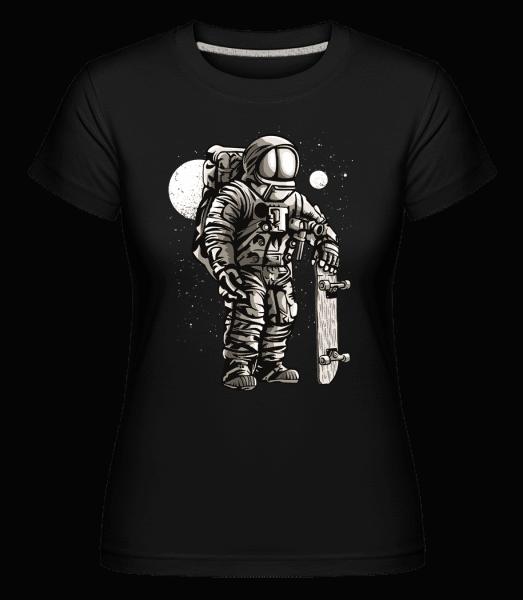 Astronaut Skater -  Shirtinator Women's T-Shirt - Black - Vorn