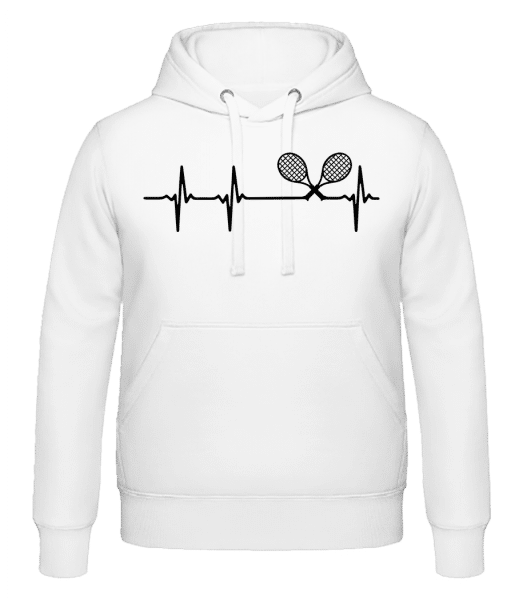 Heartbeat Tennis - Men's Hoodie - White - Front
