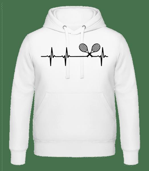 Heartbeat Tennis - Men's Hoodie - White - Vorn