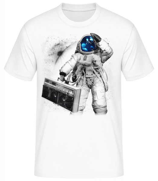 Ghettoblaster Astronaut - Men's Basic T-Shirt - White - Front