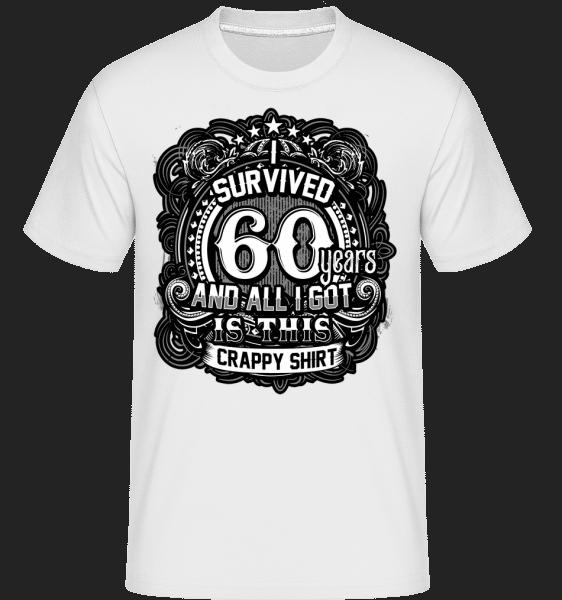 Přežil jsem 60 let -  Shirtinator tričko pro pány - Bílá - Napřed