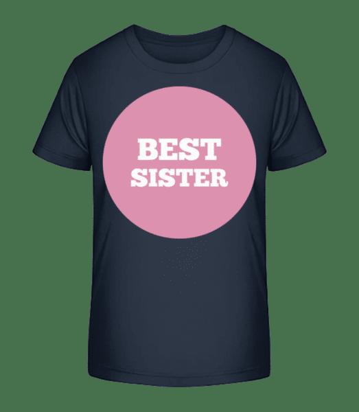 Best Sister - Kid's Premium Bio T-Shirt - Navy - Vorn