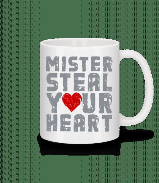 Mister Steal Your Heart - Mug - White - Vorn