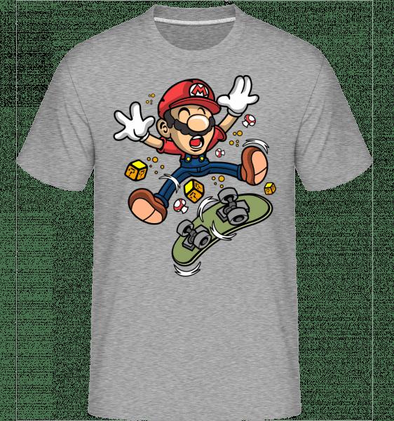 Mario Skater -  Shirtinator Men's T-Shirt - Heather grey - Front