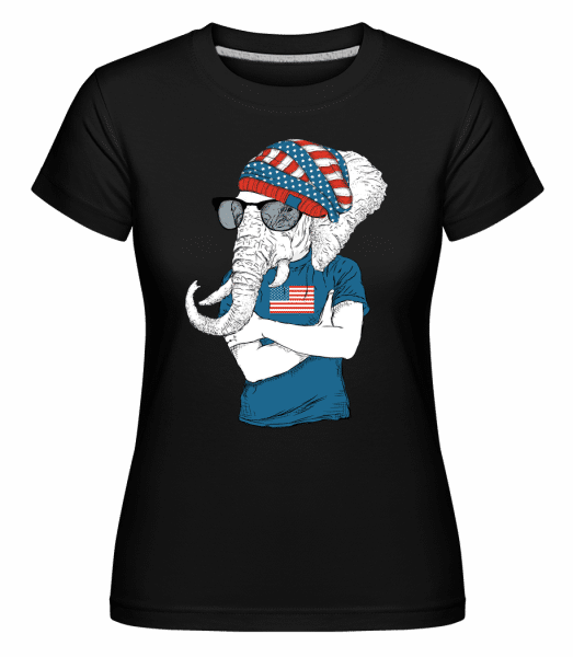 Hipster Elefant -  Shirtinator Women's T-Shirt - Black - Vorn