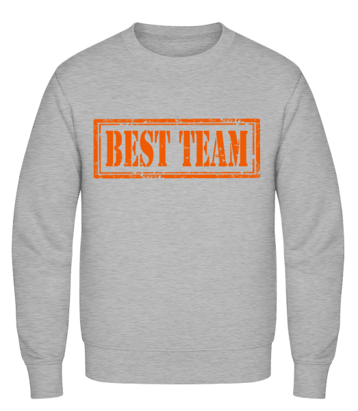 Best Team Sign - Classic Set-In Sweatshirt - Heather Grey - Vorn