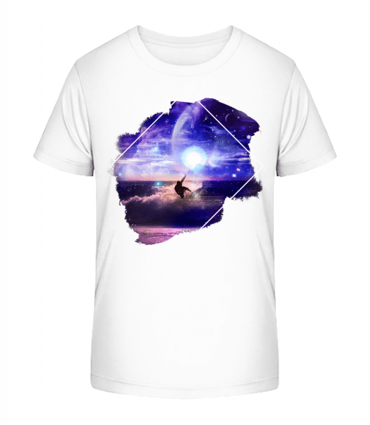 Galactic Surfer - Kid's Premium Bio T-Shirt - White - Vorn