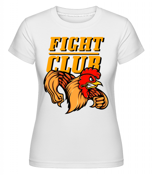 Fight Club Rooster -  Shirtinator Women's T-Shirt - White - Vorn