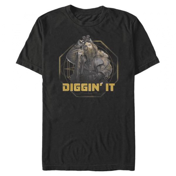 Diggin It Mulch Diggums - Disney Artemis Fowl - Men's T-Shirt - Black - Front
