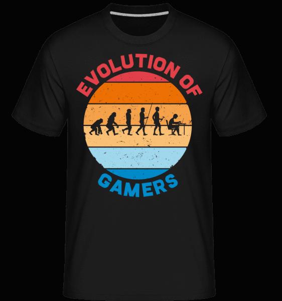 Evolution Of Gamer -  Shirtinator Men's T-Shirt - Black - Vorn