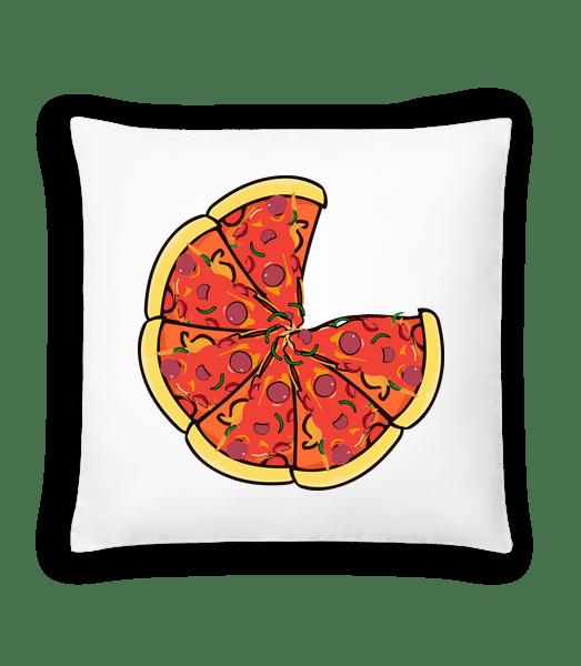 Pizza - Cushion - White - Vorn
