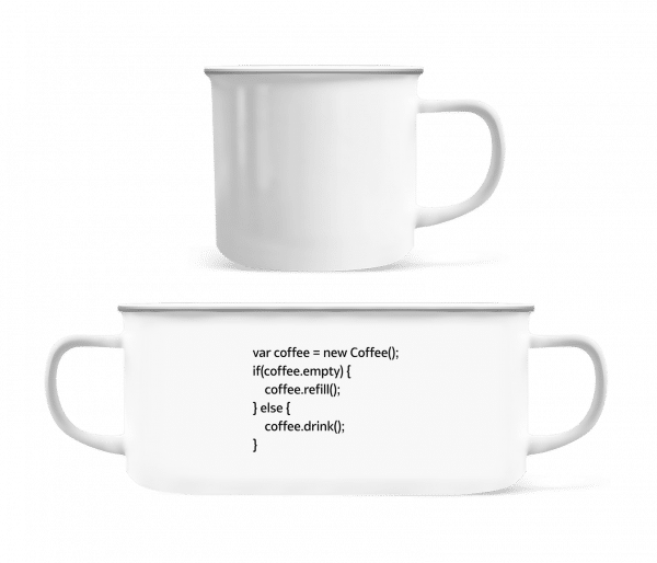 PHP Coffee - Enamel-cup - White - Vorn