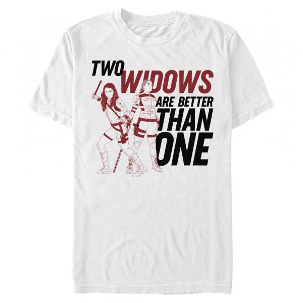 Two Widows Group Shot - Marvel Black Widow - Men's T-Shirt - White - Front