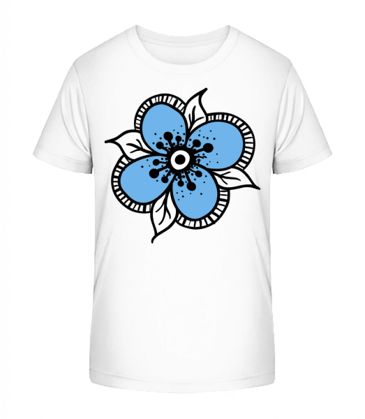 Flower Comic - Detské Premium Bio tričko - Biela - Predné