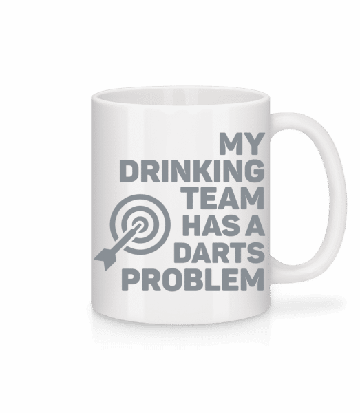 Drinking Darts - Mug - White - Vorn