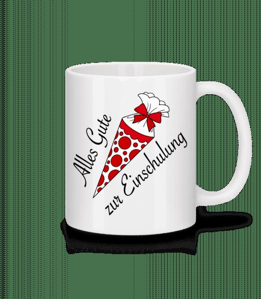 Alles Gute Zur Einschulung - Tasse - Weiß - Vorn