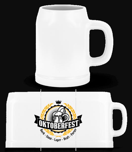 Oktoberfest Maß - Beer Mug - White - Vorn