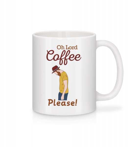 Oh Lord Coffee Please - Mug - White - Vorn