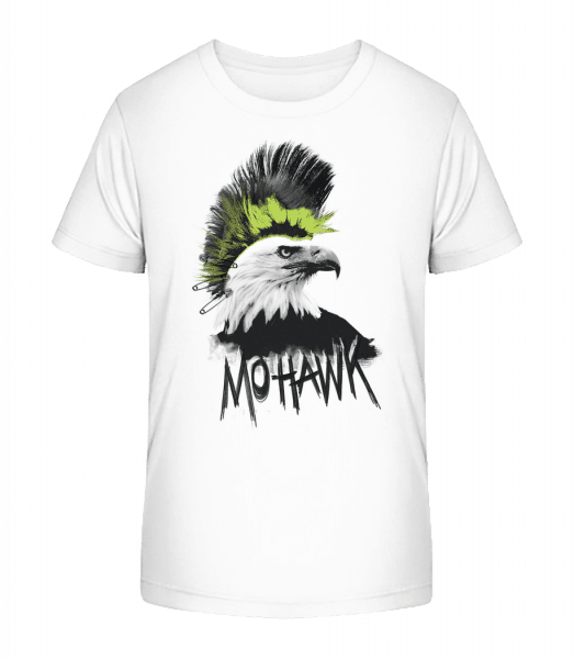 Mohawk - Kid's Premium Bio T-Shirt - White - Vorn