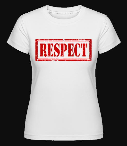 Respect Sign -  Shirtinator Women's T-Shirt - White - Vorn