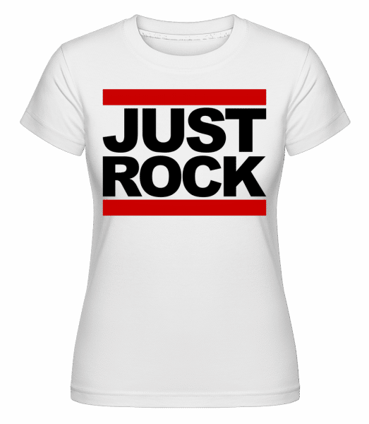 Just Rock Logo -  Shirtinator Women's T-Shirt - White - Vorn
