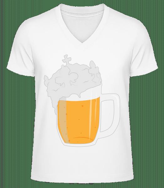 Beer - Men's V-Neck Organic T-Shirt - White - Vorn
