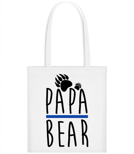 Papa Bear - Carrier Bag - White - Vorn
