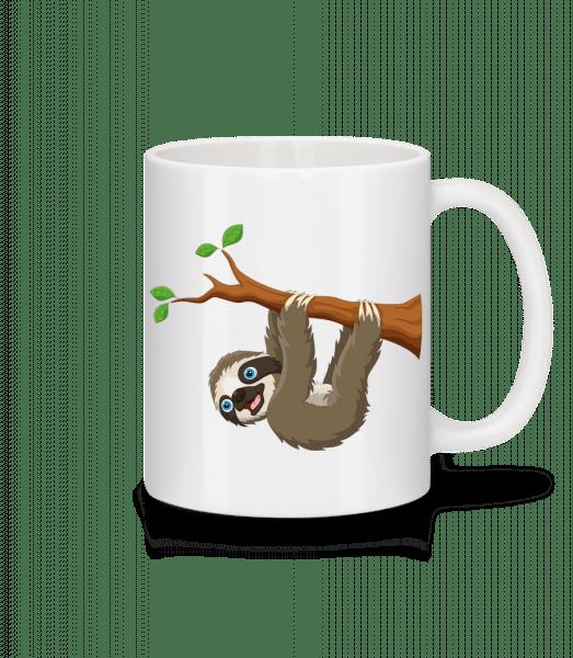 Cute Sloth Hanging On A Branch - Mug - White - Vorn