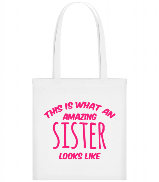 Amazing Sister Looks Like - Carrier Bag - White - Vorn