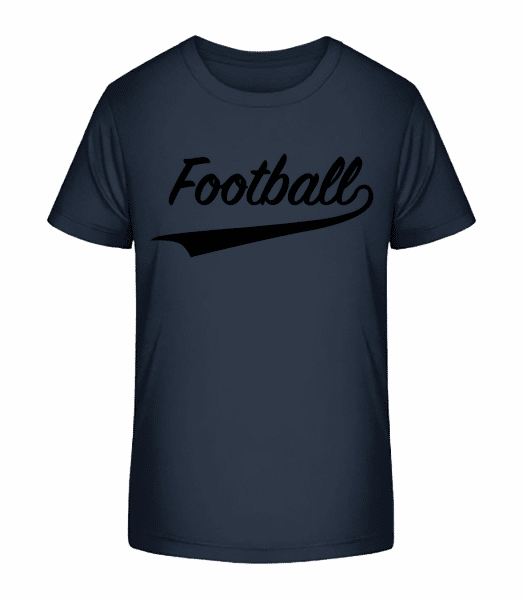 Football Stroke - Kid's Premium Bio T-Shirt - Navy - Vorn