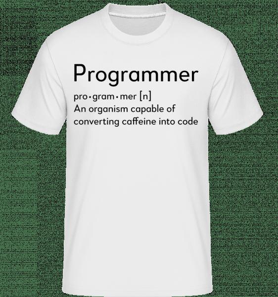 Programmer Definition -  T-Shirt Shirtinator homme - Blanc - Vorn