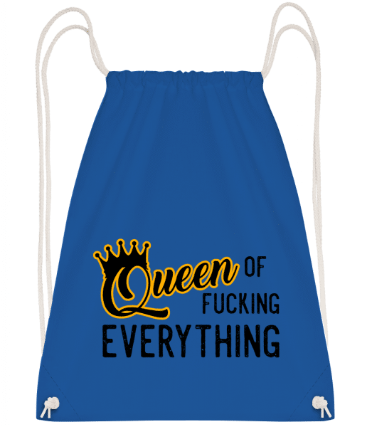 Queen Of Fucking Everything - Drawstring Backpack - Royal blue - Vorn