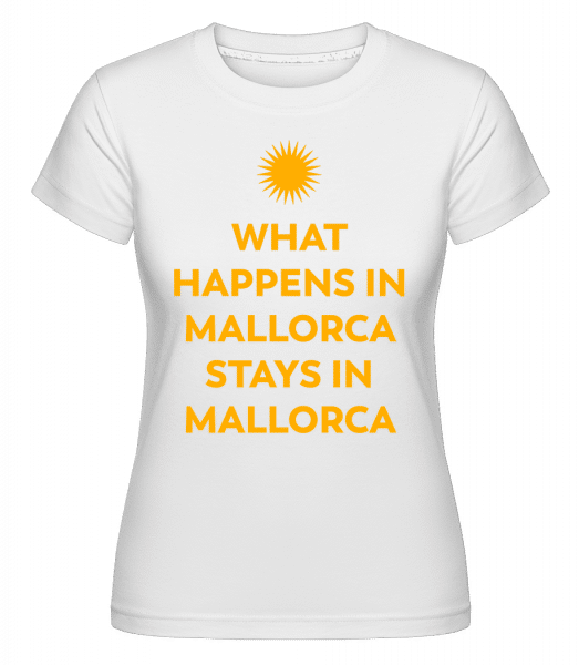 What Happens In Mallorca -  Shirtinator Women's T-Shirt - White - Vorn