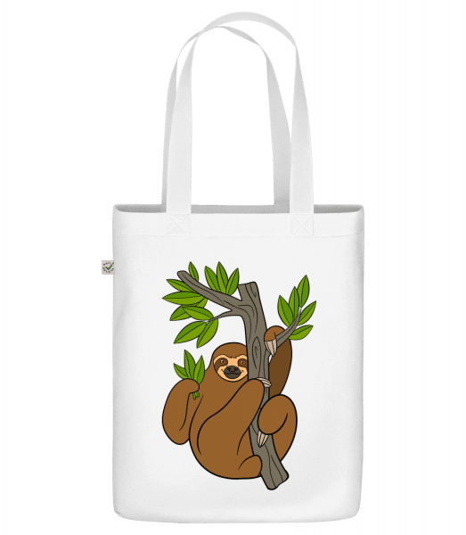 "Sloth On The Tree - Organic ""Earth Positive"" tote bag - White - Vorn"