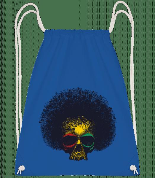 Reggae Skull - Drawstring Backpack - Royal blue - Vorn