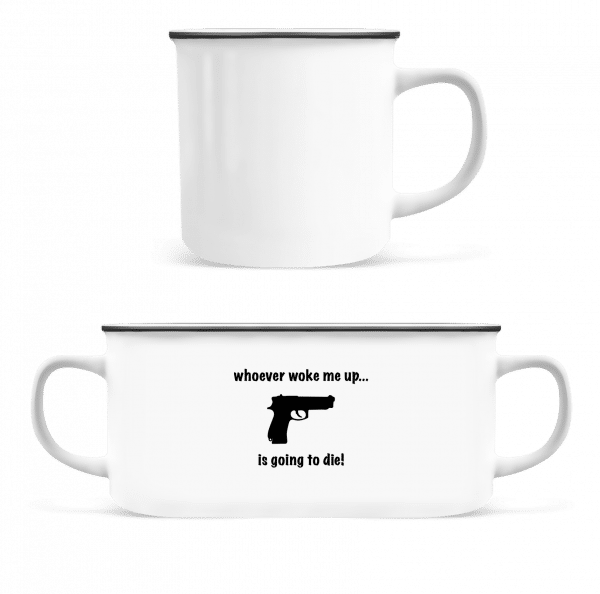 Don't Wake Me Up! - Enamel-cup - White - Vorn