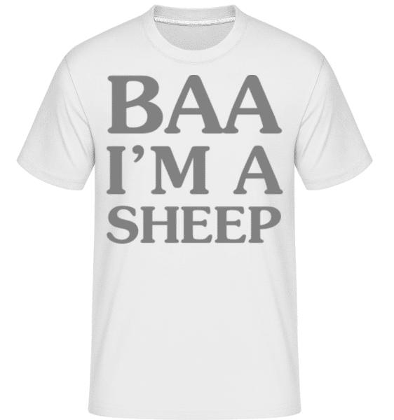BAA I Am A Sheep -  Shirtinator Men's T-Shirt - White - Front