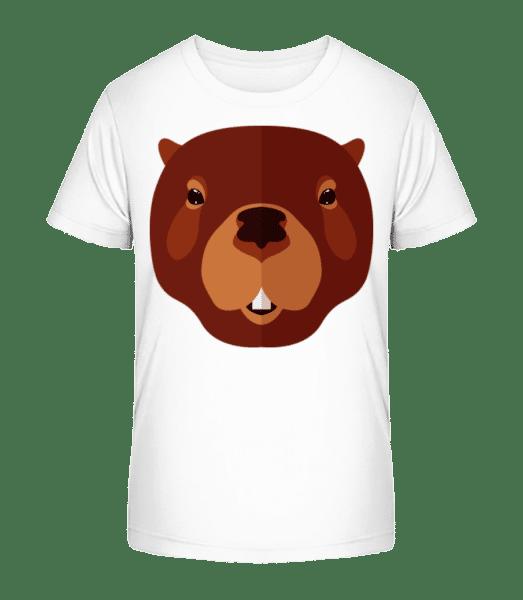 Beaver Comic - Kid's Premium Bio T-Shirt - White - Front