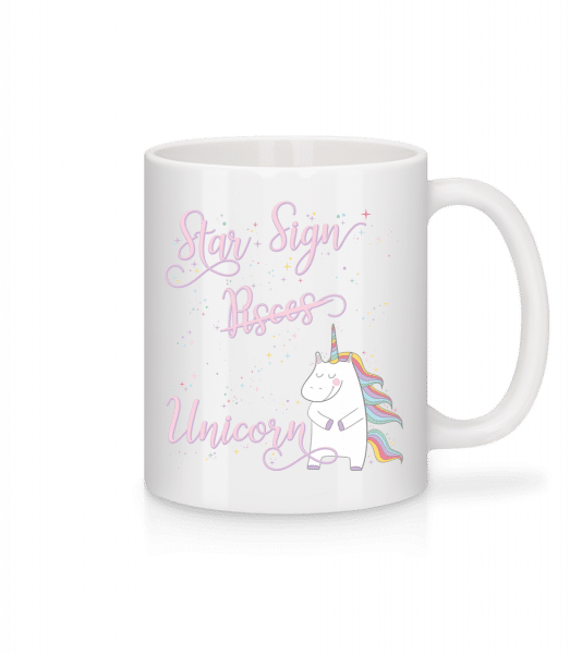 Star Sign Unicorn Pisces - Tasse - Weiß - Vorn