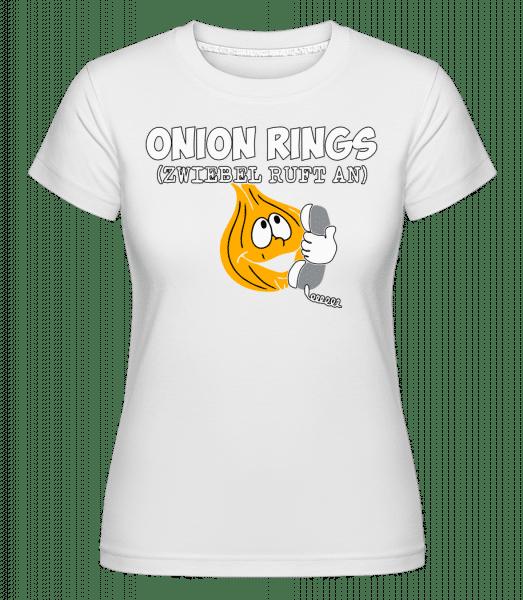 Onion Rings - Shirtinator Frauen T-Shirt - Weiß - Vorn