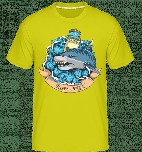Tiger Shark -  Shirtinator Men's T-Shirt - Apple green - Front