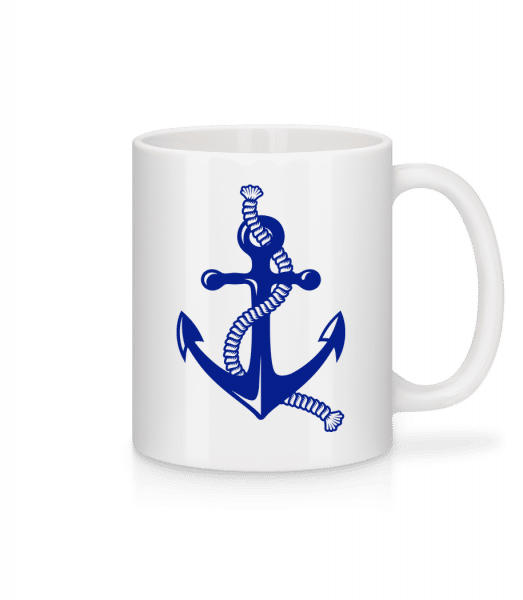 Anchor With Rope - Mug - White - Front
