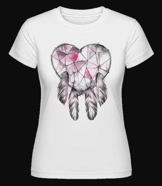 Dream Catcher Heart -  Shirtinator tričko pre dámy - Biela - Predné