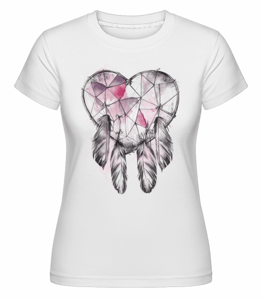 Dream Catcher Heart -  Shirtinator Women's T-Shirt - White - Vorn