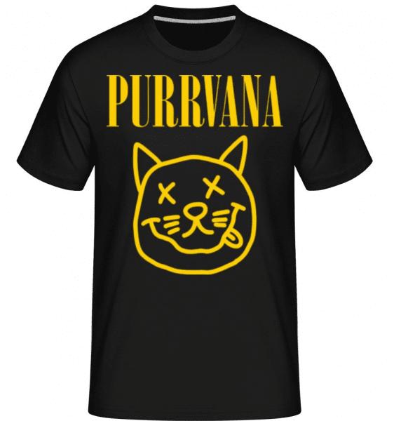 Purrvana -  Shirtinator Men's T-Shirt - Black - Front
