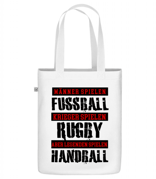 Legenden Spielen Handball - Bio Tasche - Weiß - Vorn