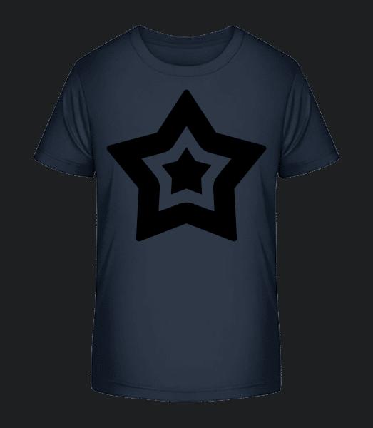 hvězda Symbol - Detské Premium Bio tričko - Namořnická modrá - Napřed