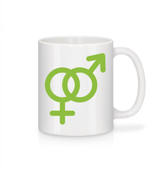 Male/Female Love Icon - Mug - White - Front