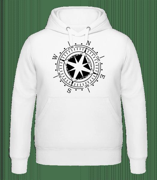 Compass - Hoodie - White - Vorn